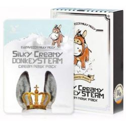 Elizavecca Silky Creamy Donkey Steam Cream Mask Pack 25g - тканевая маска с паровым кремом из ослиного молока