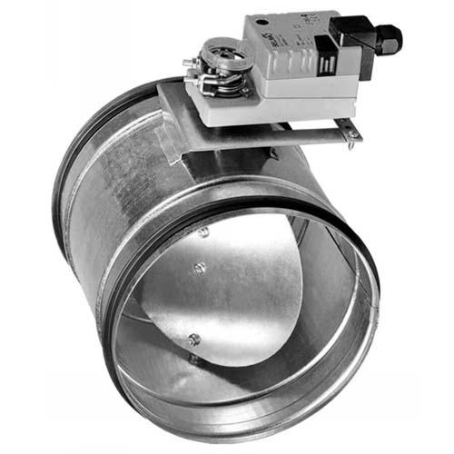 Клапан тип КВК с приводом GRUNER d100-d315