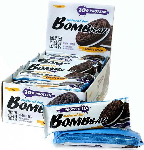 Батончики BombBar (Печенье и крем)