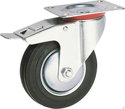 Колесо промышленное поворотное с тормозом SCb
