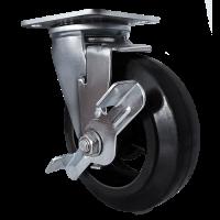 Колесо большегрузное обрезиненное поворотное с тормозом SCdb