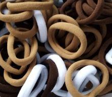 резинка бесшовная 35 мм ( узкая) ШКОЛЬНЫЙ   МИКС  № 4 упаковка 8 шт (4 оттенка*2 шт) белый, светло-коричневый, коричневый, темно-коричневый