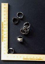 основа для кольца с площадкой диаметром 8 мм металл/серебро КОМПЛЕКТАЦИЯ НА ВЫБОР