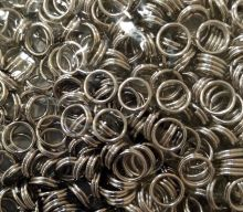 кольцо соединительное двойное диаметр 6 мм упаковка 30 шт ЦВЕТ НА ВЫБОР