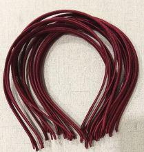 ободок-основа 6 мм металл/ ткань ТЕМНО-БОРДОВЫЙ/ МАРСАЛА  КОМПЛЕКТАЦИЯ НА ВЫБОР