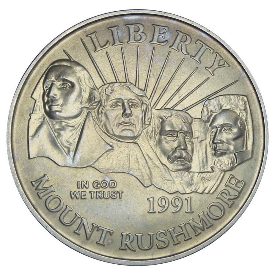 50 центов 1991 США 50 лет Национальному мемориалу Рашмор