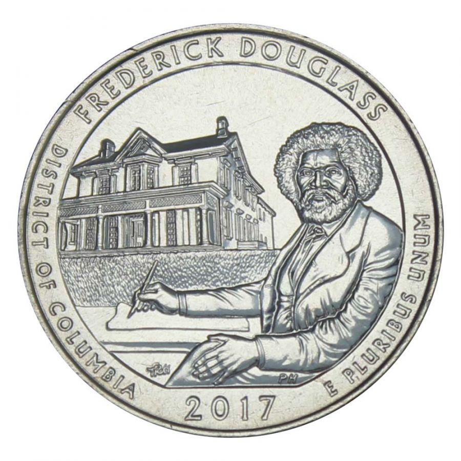 25 центов 2017 США Национальное историческое место Фредерика Дугласа D