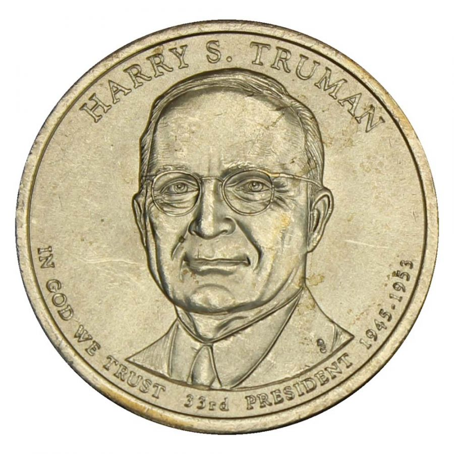 1 доллар 2015 США Гарри Трумэн (Президенты США) UNC