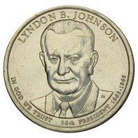 1 доллар 2015 США Линдон Джонсон (Президенты США) UNC