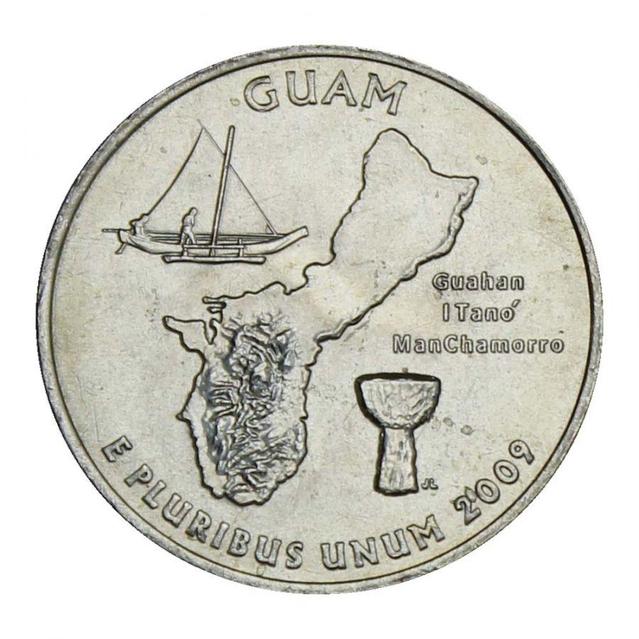 25 центов 2009 США Гуам P (Штаты и территории США)