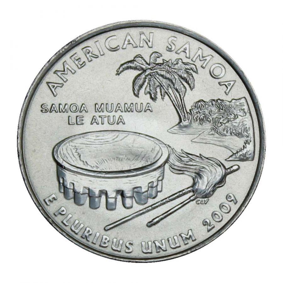 25 центов 2009 США Американское Самоа D (Штаты и территории США)