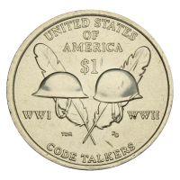 1 доллар 2016 США Индейцы-радисты (Коренные Американцы)