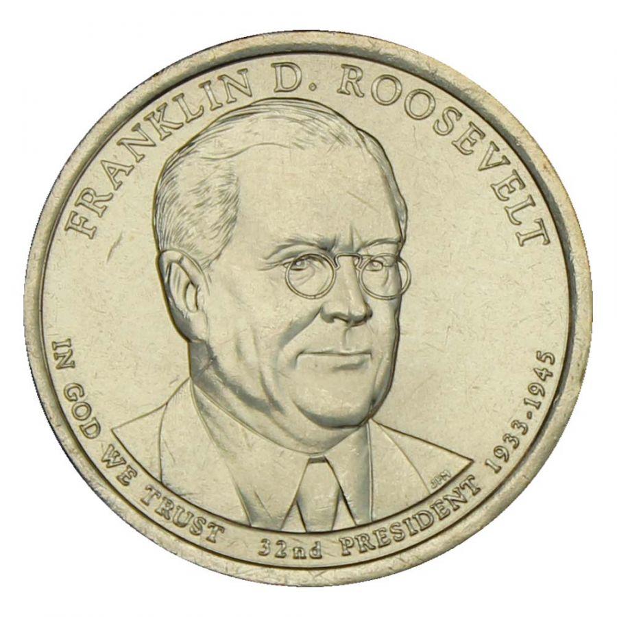 1 доллар 2014 США Франклин Рузвельт (Президенты США)