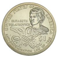 1 доллар 2020 США Элизабет Ператрович, Закон о борьбе с дискриминацией 1945 (Коренные Американцы)