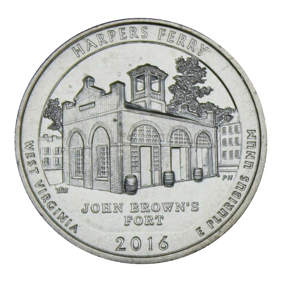 25 центов 2016 США Национальный исторический парк Харперс Ферри S