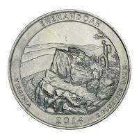 25 центов 2014 США Национальный парк Шенандоа D