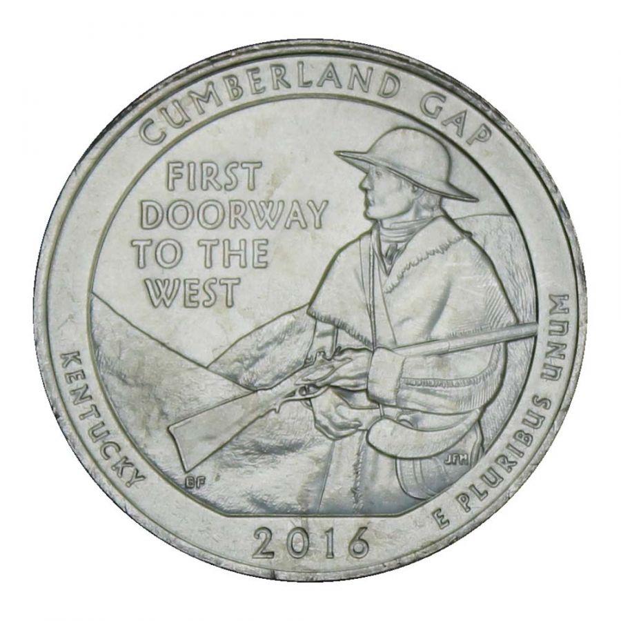 25 центов 2016 США Национальный исторический парк Камберленд-Гэп P