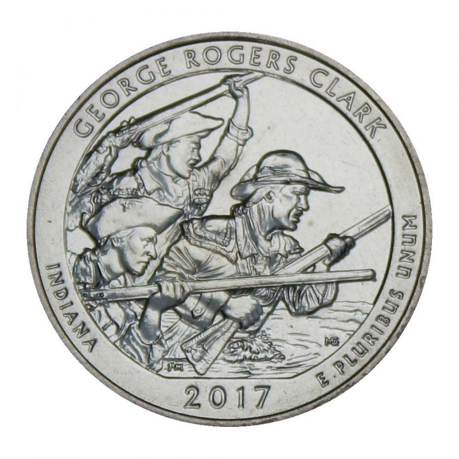 25 центов 2017 США Национальный исторический парк имени Джорджа Роджерса Кларка S