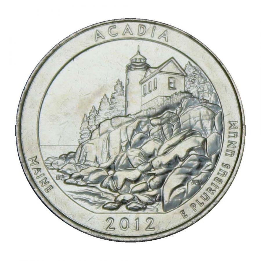 25 центов 2012 США Национальный парк Акадия D
