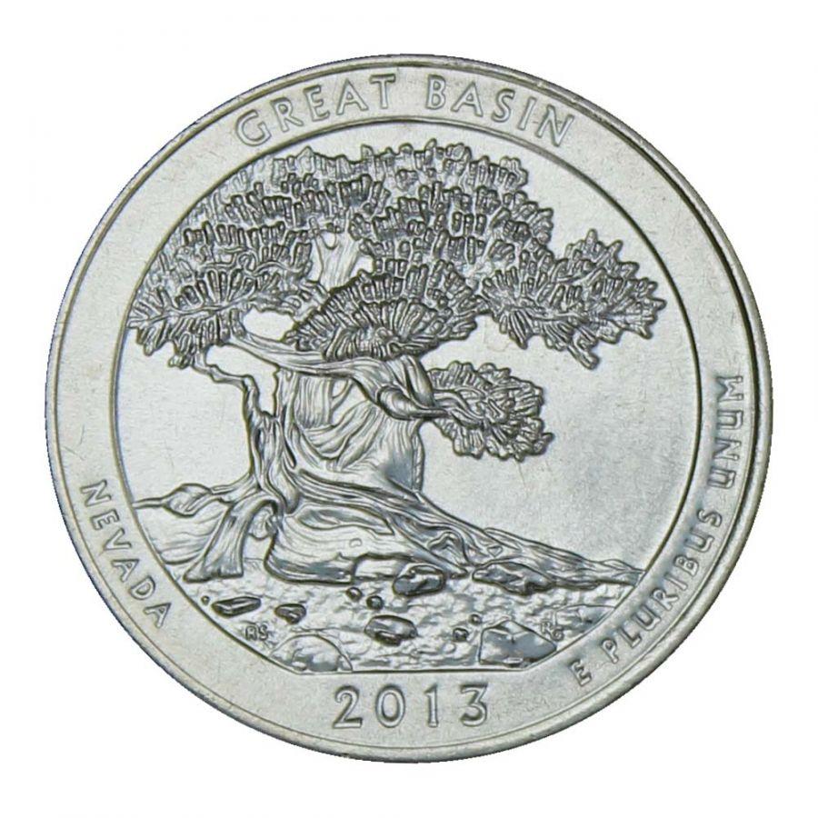 25 центов 2013 США Национальный парк Грейт-Бейсин D