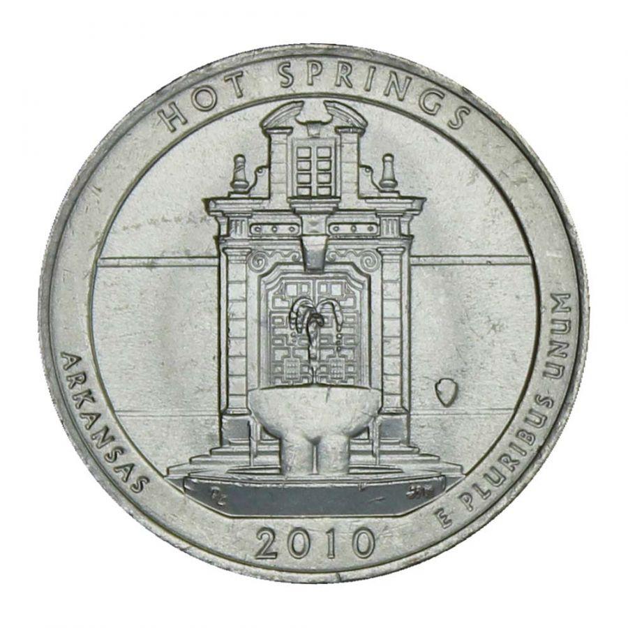 25 центов 2010 США Национальный парк Хот-Спрингс D