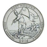 25 центов 2016 США Форт Молтри D