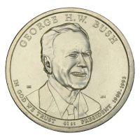 1 доллар 2020 США 41-й президент Джордж Герберт Уокер Буш P (Президенты США)