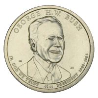 1 доллар 2020 США 41-й президент Джордж Герберт Уокер Буш D (Президенты США)