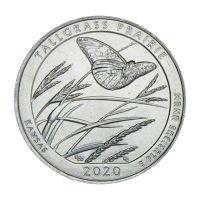 25 центов 2020 США Национальный заказник Таллграсс Прейри D