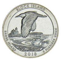 25 центов 2018 США Национальное убежище дикой природы острова Блок S