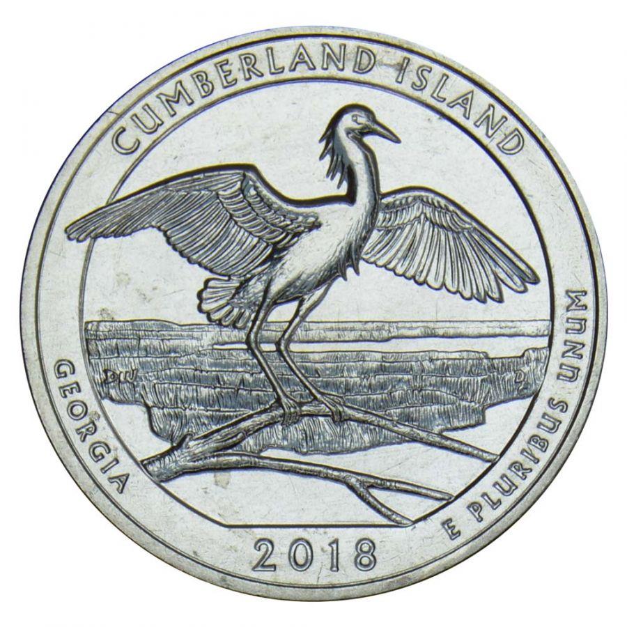 25 центов 2018 США Национальное побережье острова Кумберленд S