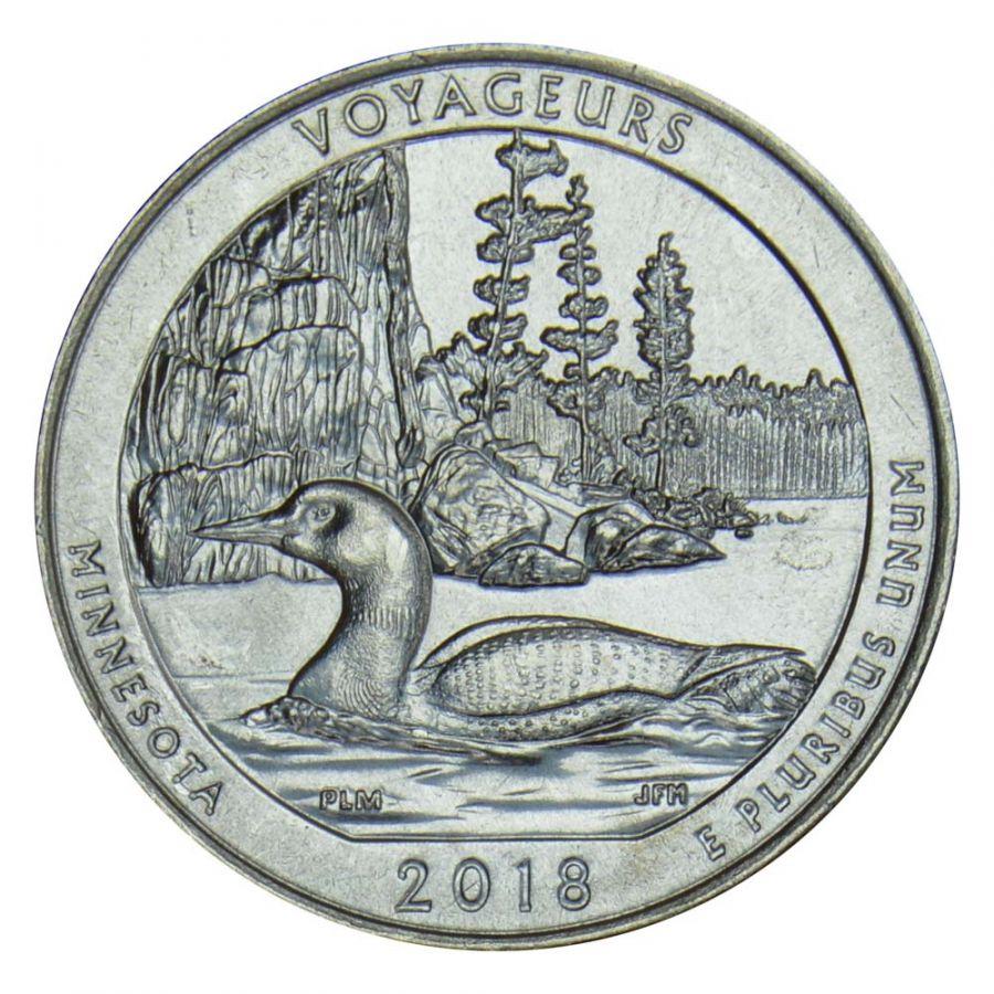 25 центов 2018 США Национальный парк Вояджерс D