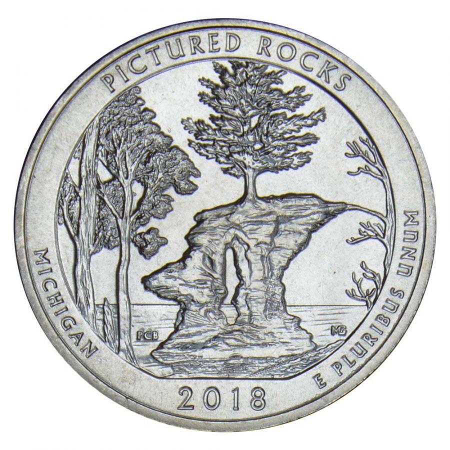 25 центов 2018 США Национальные озёрные побережья живописных камней S