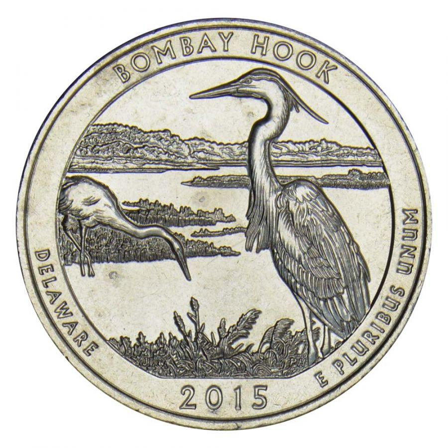 25 центов 2015 США Национальное убежище дикой природы Бомбай-Хук S