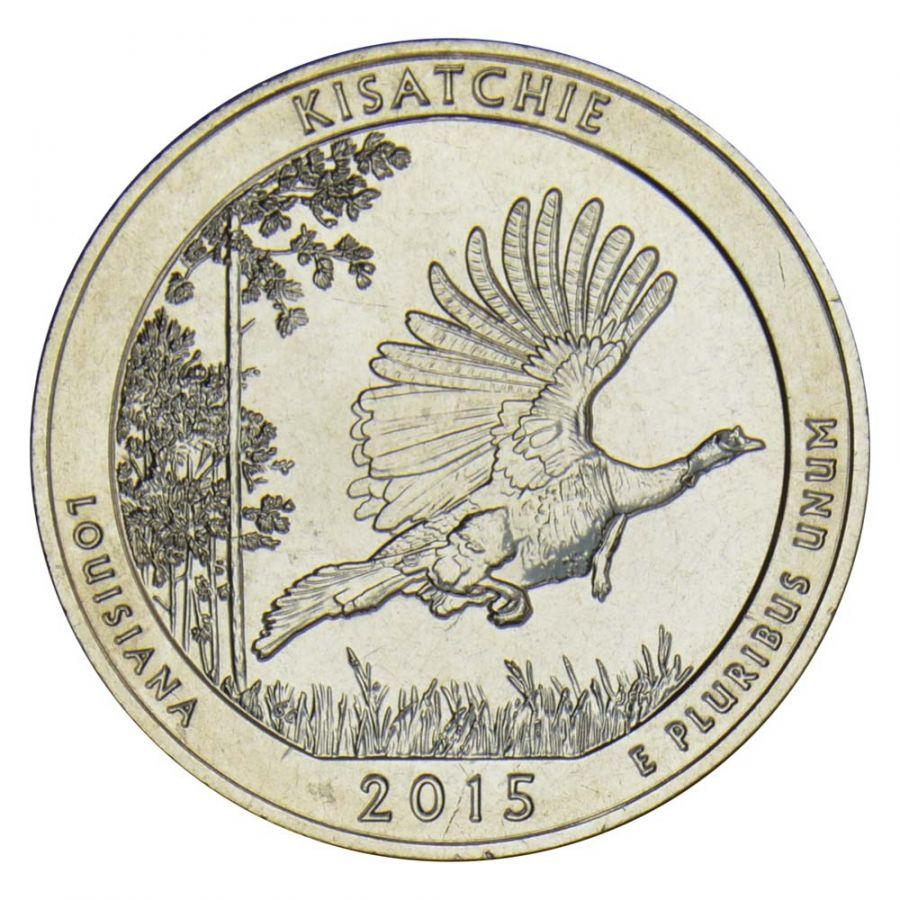 25 центов 2015 США Национальный лес Кисатчи S