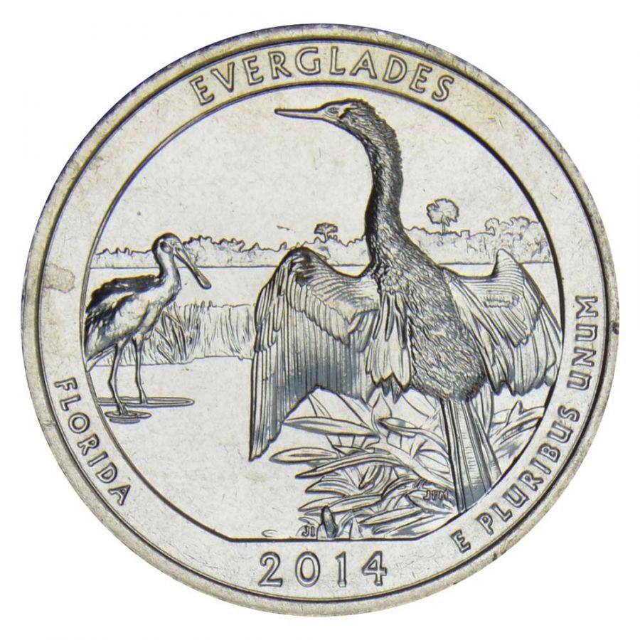 25 центов 2014 США Национальный парк Эверглейдс S