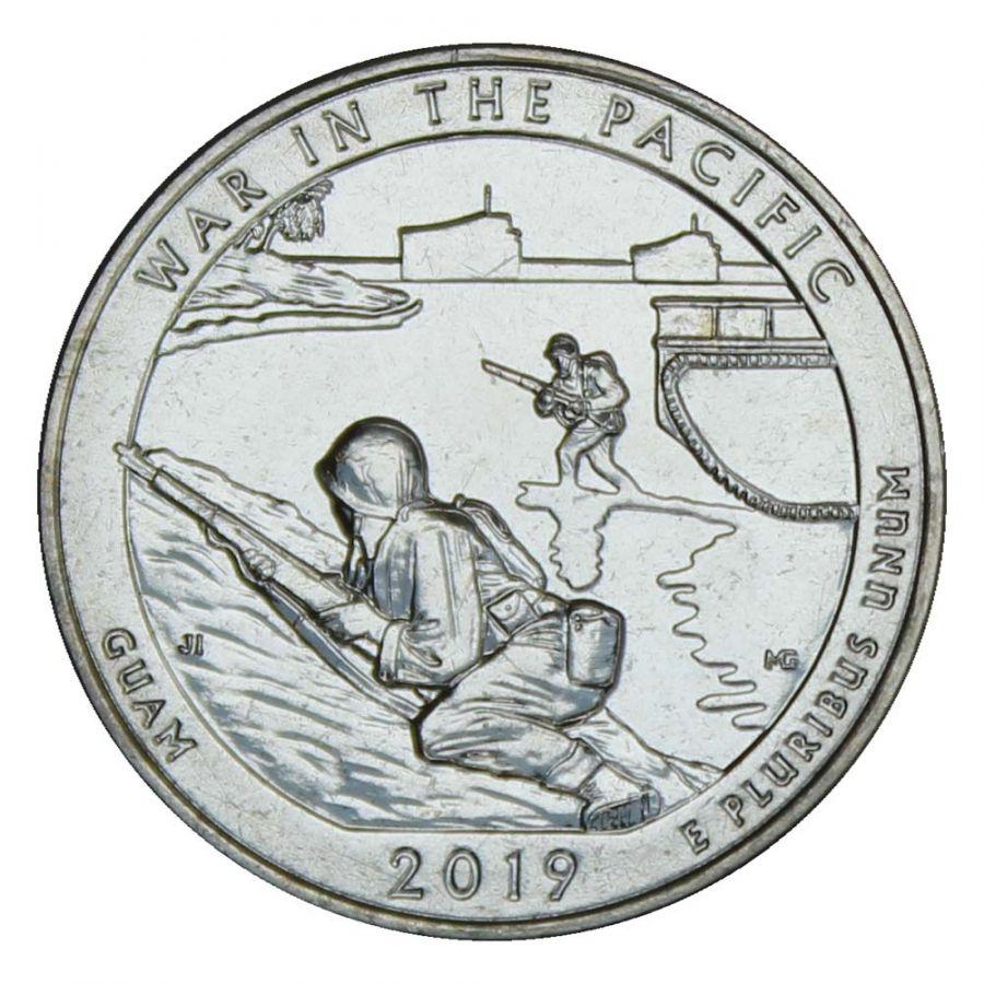 25 центов 2019 США Национальный исторический парк Войны в Тихом океане S
