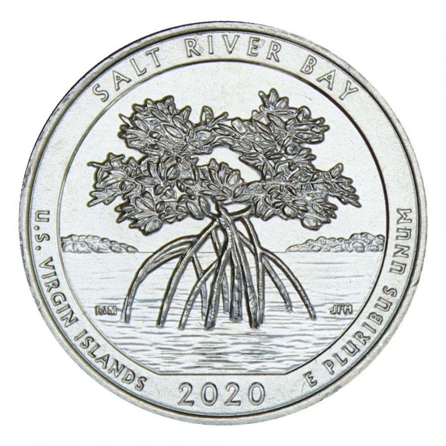 25 центов 2020 США Национальный исторический парк и экологический заповедник Бухта Солёной реки S