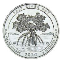 25 центов 2020 США Национальный исторический парк и экологический заповедник Бухта Солёной реки D