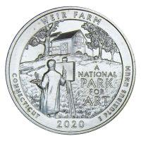 25 центов 2020 США Ферма Дж. А. Вейра Коннектикут D