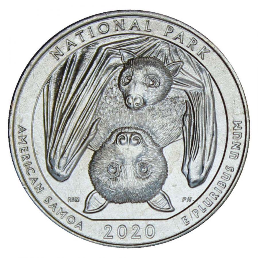 25 центов 2020 США Национальный парк Американского Самоа P