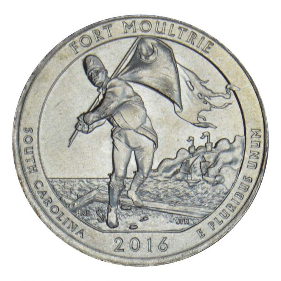 25 центов 2016 США Форт Молтри P