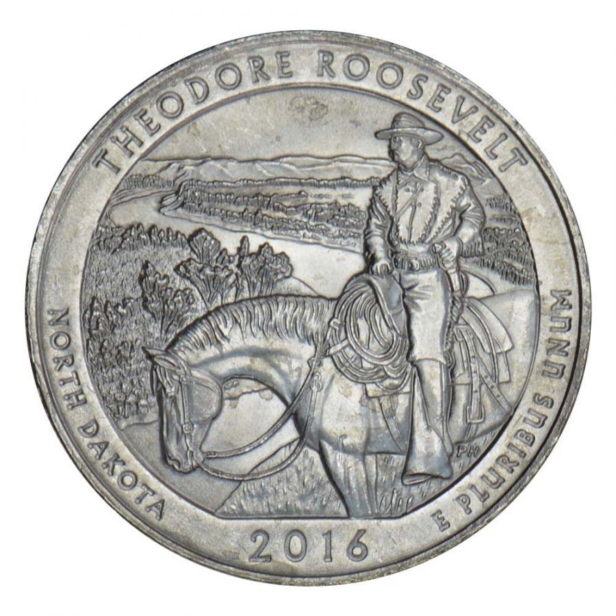 25 центов 2016 США Национальный парк Теодор-Рузвельт P