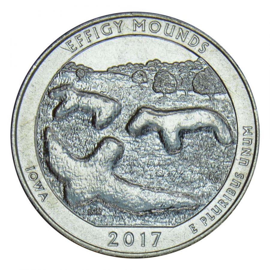 25 центов 2017 США Национальный памятник Эффиджи-Маундз D