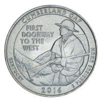 25 центов 2016 США Национальный исторический парк Камберленд-Гэп D