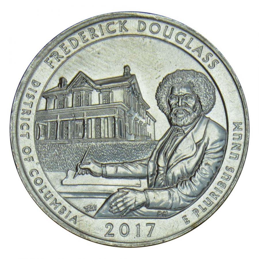 25 центов 2017 США Национальное историческое место Фредерика Дугласа P