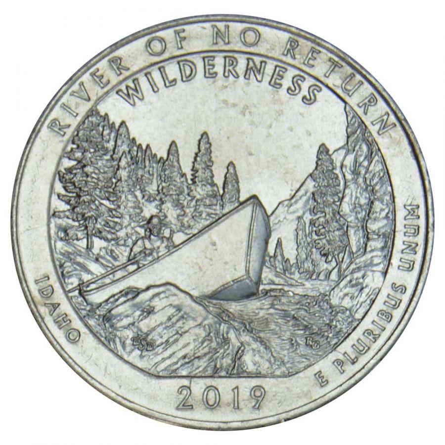25 центов 2019 США Дикая местность - Река Фрэнк Черч (Айдахо) P