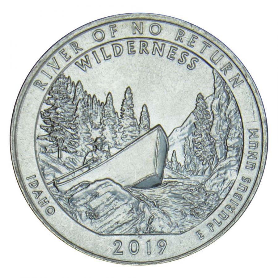 25 центов 2019 США Дикая местность - Река Фрэнк Черч (Айдахо) D