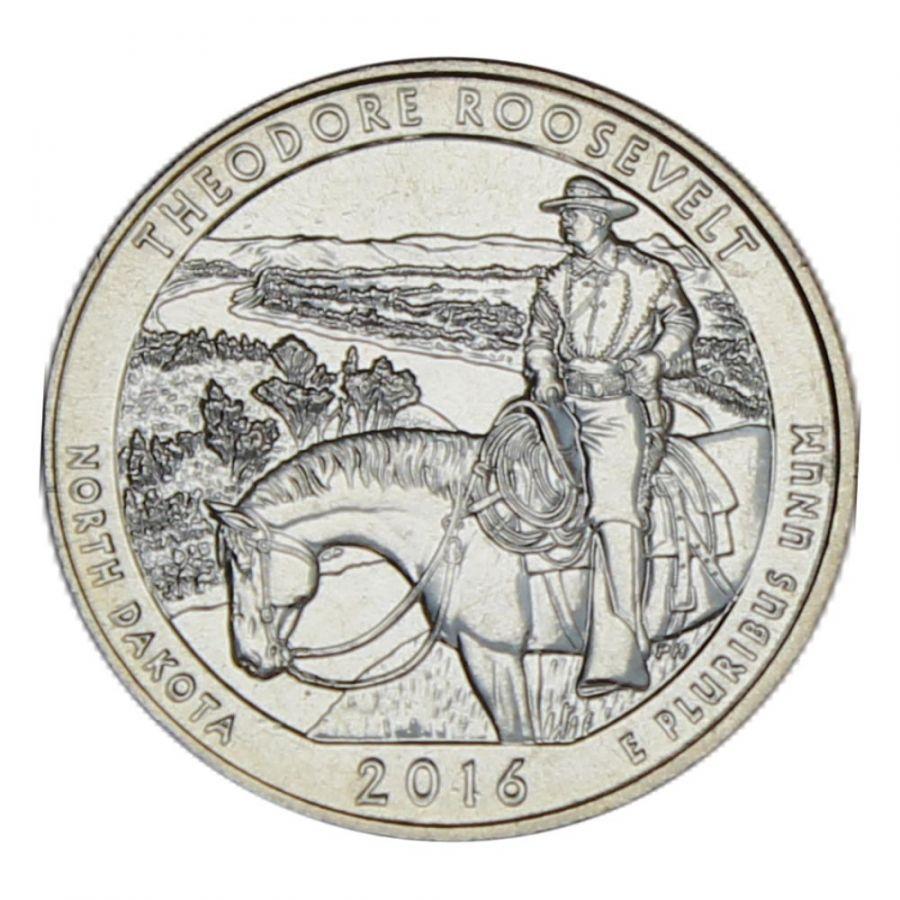 25 центов 2016 США Национальный парк Теодор-Рузвельт D