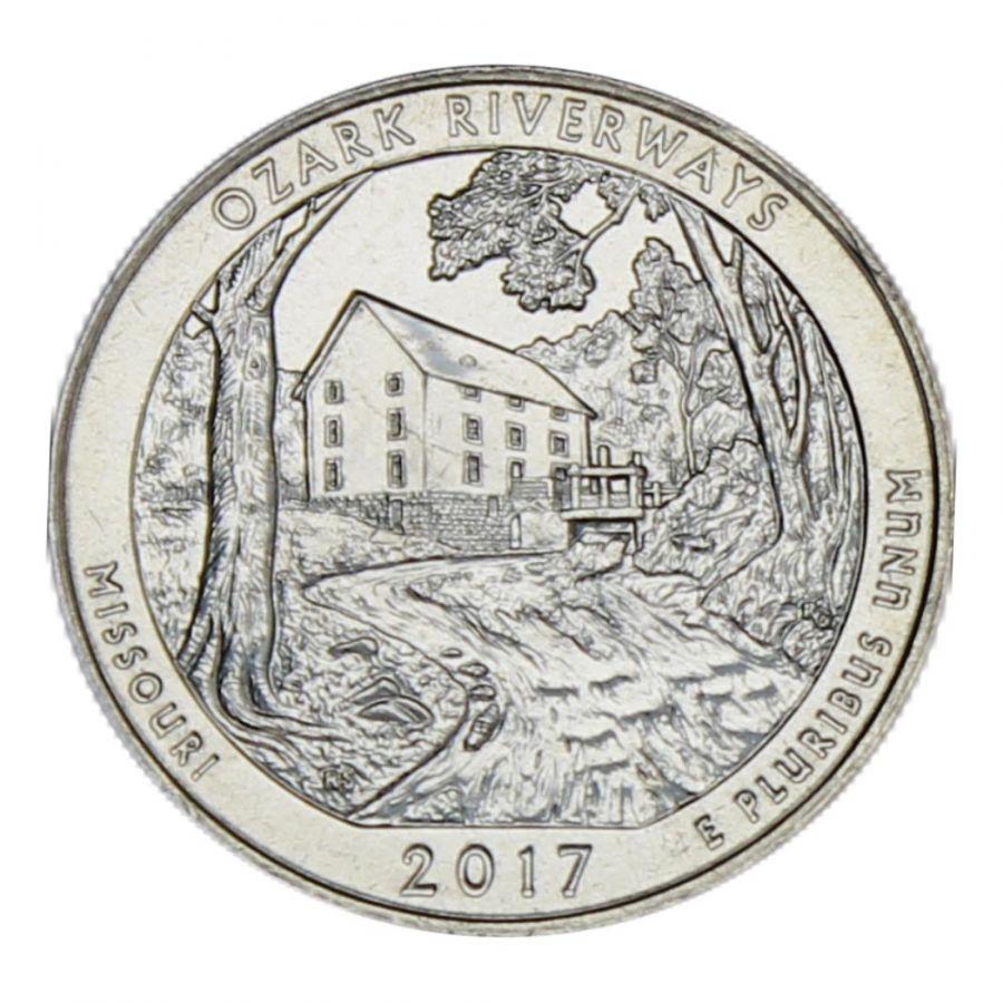 25 центов 2017 США Национальные водные пути Озарк D
